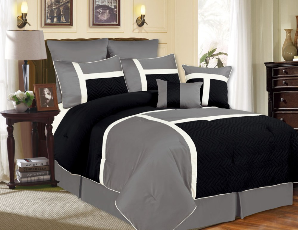 Black And Cream Comforter Sets