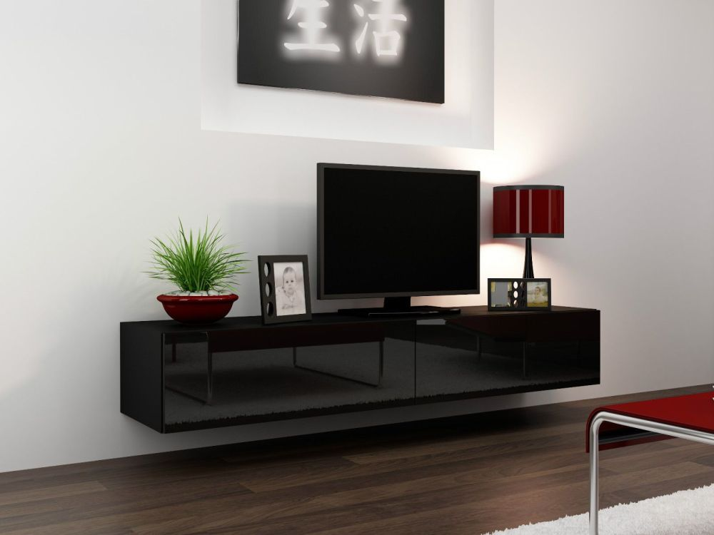 Black Gloss Tv Stand Ebay