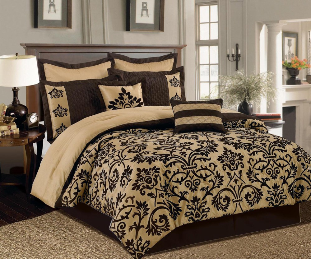 Brown And Cream Comforter Set