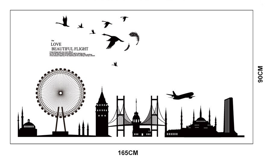 Cityscape Silhouette Wall Decals