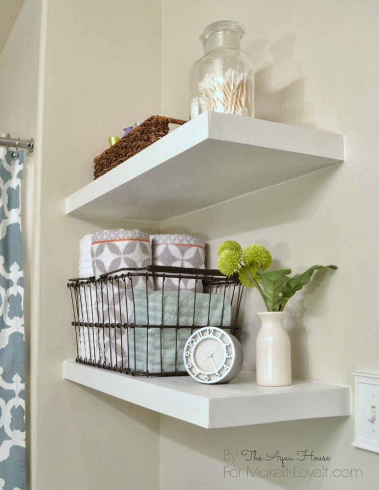 Floating Shelves Bathroom Diy