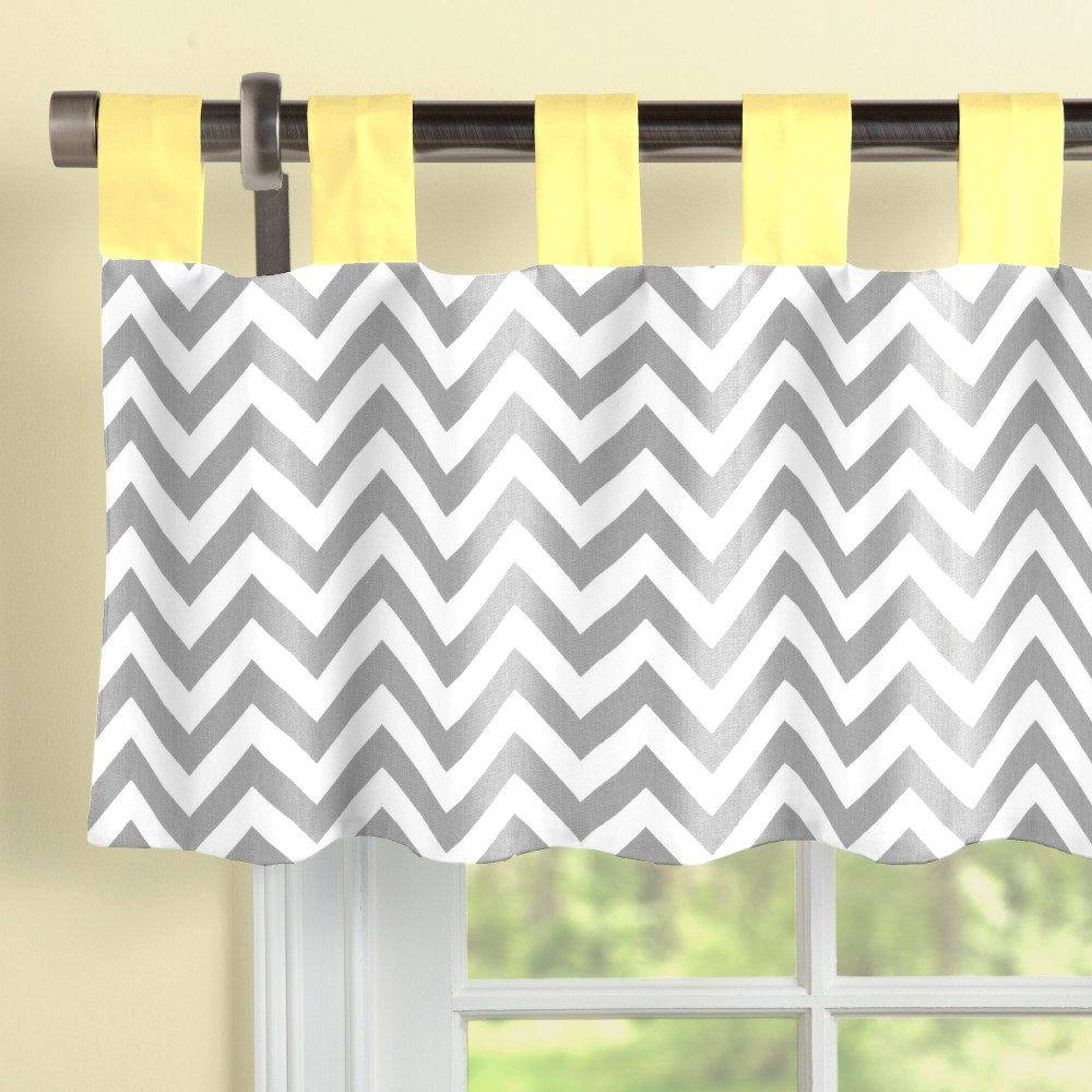 Gray And Yellow Window Valance