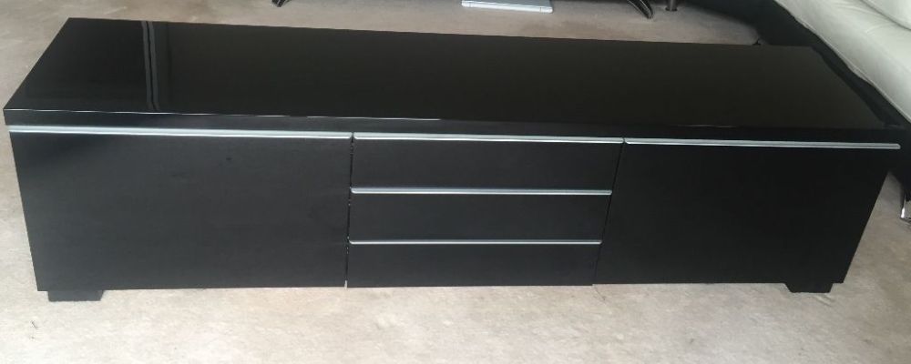 Ikea Tv Stand Black Gloss